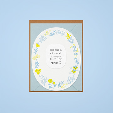 活版印刷のレターセット ダイカット