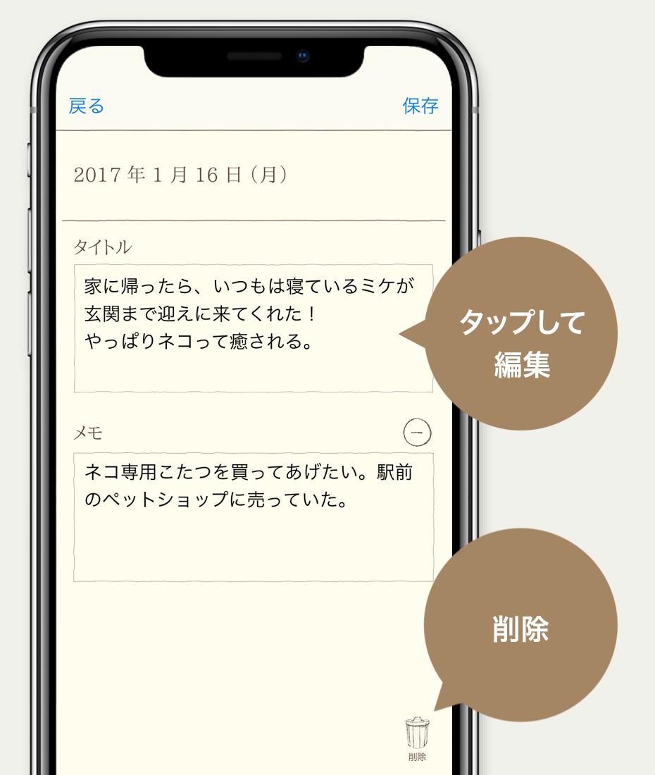 タイトル編集画面